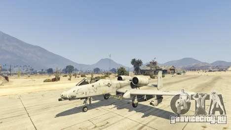 A-10A Thunderbolt II 1.1 для GTA 5 третий скриншот