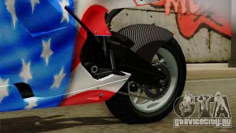 Bati America Motorcycle для GTA San Andreas вид справа