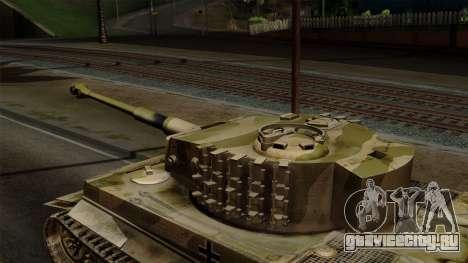 Panzerkampfwagen VI Ausf. E Tiger No Interior для GTA San Andreas вид справа