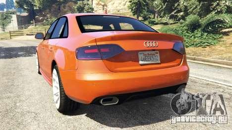 Audi S4 для GTA 5 вид сзади слева