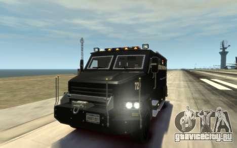 International 4000-Series SWAT Van для GTA 4 вид сбоку