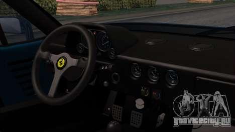 Ferrari F40 1987 with Up without Bonnet HQLM для GTA San Andreas вид справа