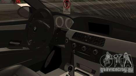 BMW M5 E60 Vossen v1 для GTA San Andreas вид сзади