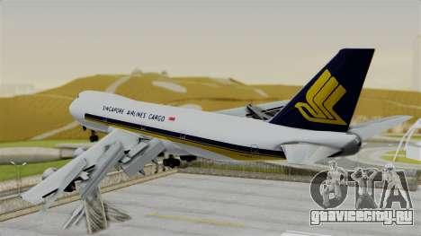 Boeing 747 Singapore Cargo для GTA San Andreas вид слева