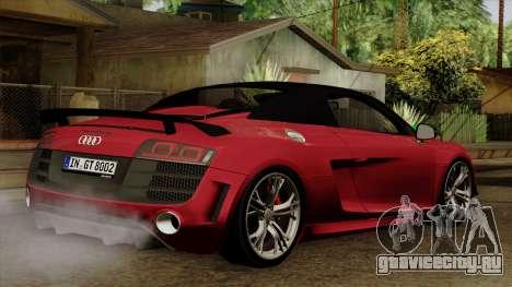 Audi R8 GT Spyder 2012 для GTA San Andreas вид слева