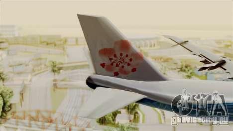 Boeing 747-200 China Airlines Dreamliner для GTA San Andreas вид сзади слева