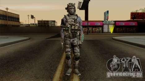 CoD Custom Ghost Retextured для GTA San Andreas второй скриншот