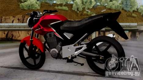 Honda Twister 2014 для GTA San Andreas вид слева