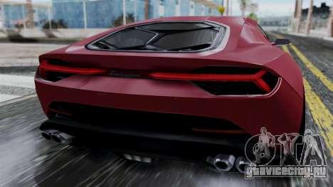 Lamborghini Asterion 2015 Concept для GTA San Andreas вид сзади
