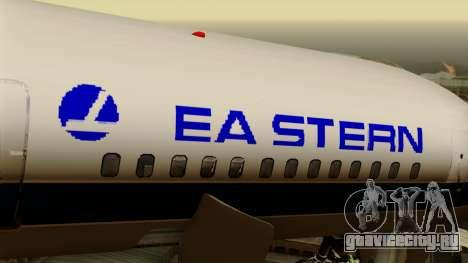 Boeing 757-200 Eastern Air Lines для GTA San Andreas вид сзади