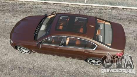 BMW 750Li 2016 v1.1 для GTA 5 вид сзади