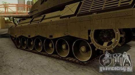 Leopard 1A5 для GTA San Andreas вид сзади слева
