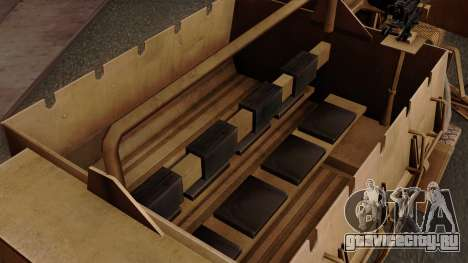 MRAP Buffel from CoD Black Ops 2 для GTA San Andreas вид сзади
