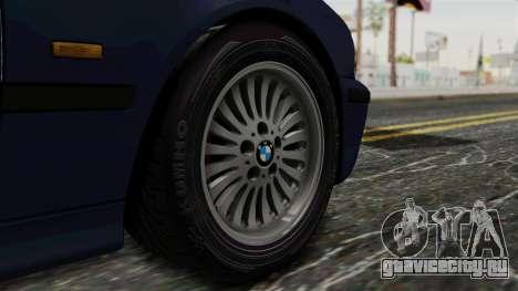 BMW 530D E39 1999 Stock для GTA San Andreas вид сзади слева