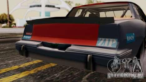 Pontiac GranPrix Hotring 1981 No Dirt для GTA San Andreas вид сзади
