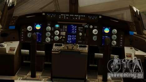 Boeing 757-200 Eastern Air Lines для GTA San Andreas вид изнутри