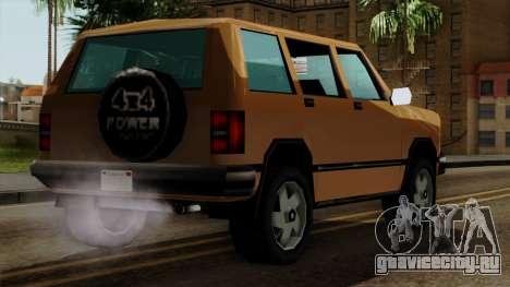Landstalker from Vice City IVF для GTA San Andreas вид слева