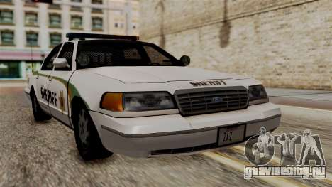 Ford Crown Victoria LP v2 Sheriff New для GTA San Andreas