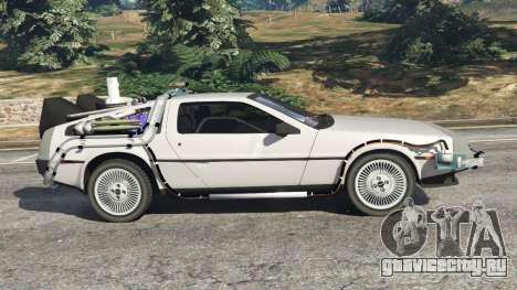 DeLorean DMC-12 Back To The Future v0.3 для GTA 5 вид слева