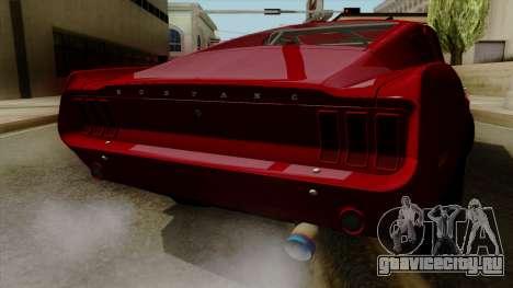 Ford Mustang Fastback для GTA San Andreas вид изнутри