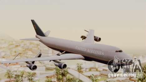 Boeing 747 United Airlines для GTA San Andreas