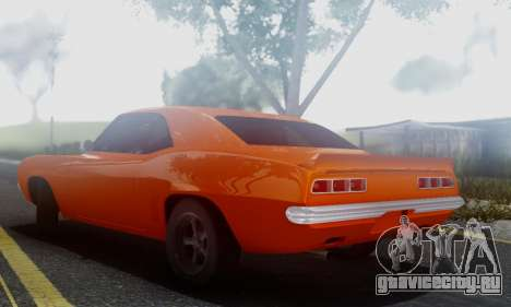 Chevy Camaro 69 для GTA San Andreas вид сзади слева