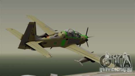 EMB-314 Super Tucano Factory USA для GTA San Andreas вид слева