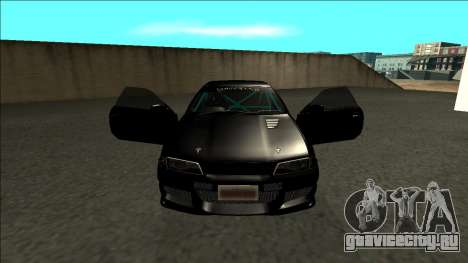 Nissan Skyline R32 Drift Monster Energy для GTA San Andreas вид изнутри