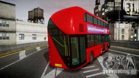 Wrightbus New Routemaster Abellio London для GTA 4 вид сзади слева
