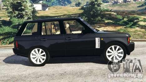 Range Rover Supercharged для GTA 5 вид слева