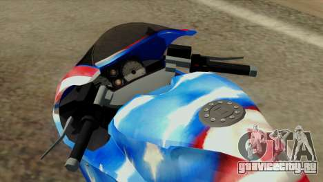 Bati America Motorcycle для GTA San Andreas вид сзади