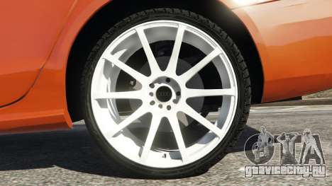 Audi S4 для GTA 5 вид сзади справа