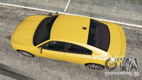 Dodge Charger RT 2015 v1.3 для GTA 5 вид сзади