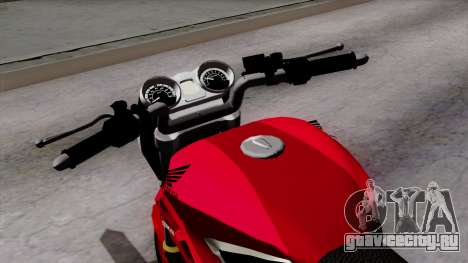 Honda Twister 2014 для GTA San Andreas вид сзади