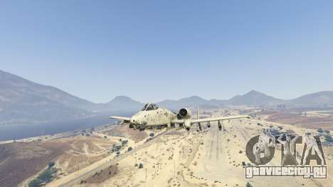 A-10A Thunderbolt II 1.1 для GTA 5 седьмой скриншот