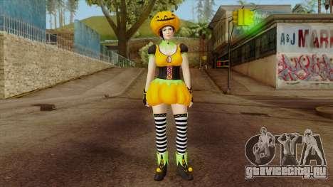 Dead or Alive 5 Mila Halloween для GTA San Andreas второй скриншот