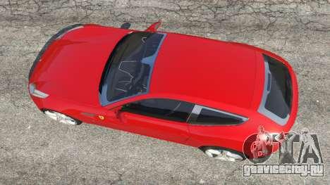 Ferrari FF для GTA 5 вид сзади