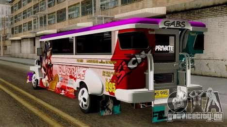 Znranomics - Costum Jeepney (Gabshop) для GTA San Andreas вид слева
