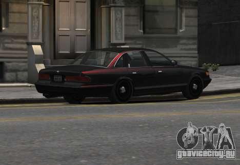 Prototype Crown 1997 Civilian для GTA 4 вид слева