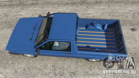 Volkswagen Saveiro 1.6 CLi для GTA 5 вид сзади