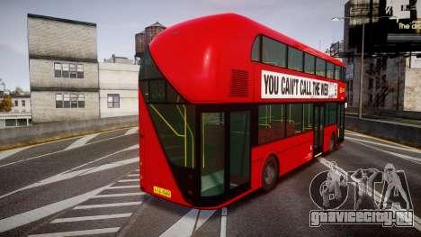 Wrightbus New Routemaster Go Ahead London для GTA 4 вид сзади слева