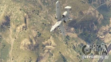 A-10A Thunderbolt II 1.1 для GTA 5 восьмой скриншот