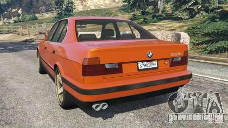 BMW 535i (E34) v2.0 для GTA 5 вид сзади слева
