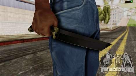 Новый ножик камуфляж для GTA San Andreas третий скриншот