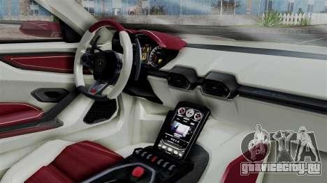 Lamborghini Asterion 2015 Concept для GTA San Andreas вид справа