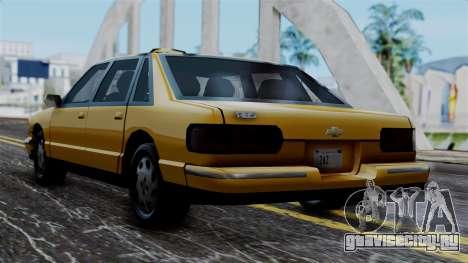 Taxi Casual v1.0 для GTA San Andreas вид слева