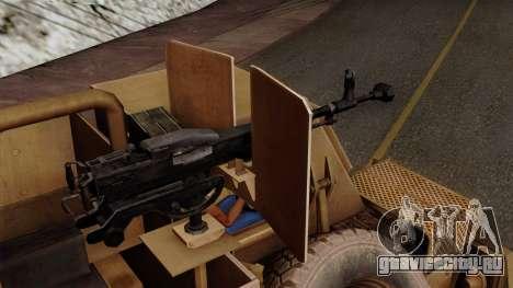 MRAP Buffel from CoD Black Ops 2 для GTA San Andreas вид справа