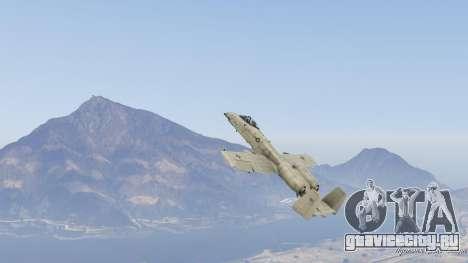 A-10A Thunderbolt II 1.1 для GTA 5 девятый скриншот