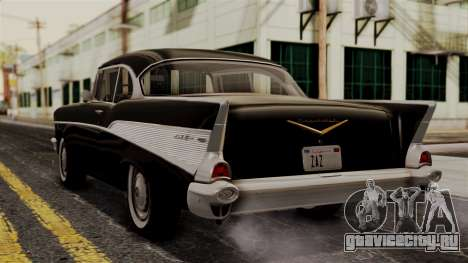 Chevrolet Bel Air Sport Coupe (2454) 1957 IVF для GTA San Andreas вид слева