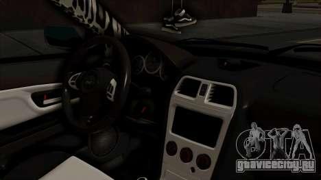 Subaru Impreza WRX STI HQ для GTA San Andreas вид справа